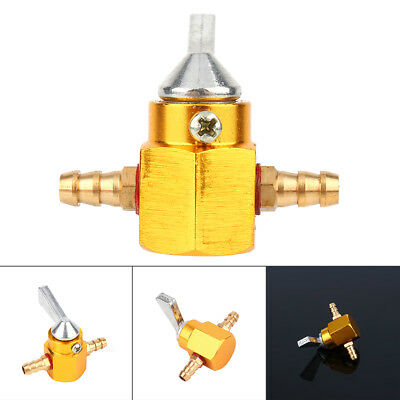 "6mm Universal Motorcycle Gas Petrol Fuel Tap 1/4"" Inline Petcock Valve Gold new"
