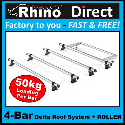 VW T5//T6 3 Bar /& Roller VECTA Roof Rack Kit 2002/> Low Roof, SWB, Twin Door