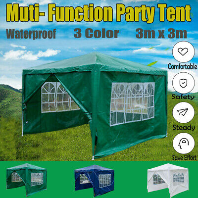 Gazebo Marquee Party Tent Waterproof Garden Patio Outdoor Canopy Awning PE 3x3m