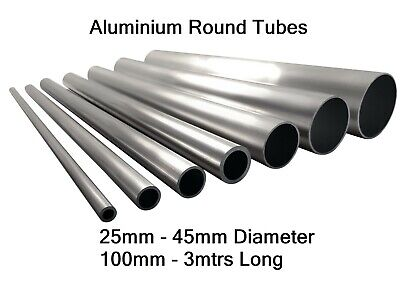 Aluminium Round Tube Pipe 25mm 28mm 30mm 32mm 35mm 38mm 40mm 45mm