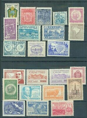 Brazil 1936-49 range of 22 MNH mostly in sets (first one toned)