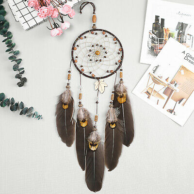 Native American Sacred Dream Catcher Beads Feather Wall Hanging Decor 13cm Web
