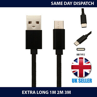 For Samsung Galaxy A40 (2019) Phone CHARGER CABLE TYPE C CHARGING LEAD 1M/2M/3M