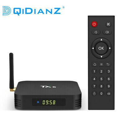 DQiDianZ TX6 Android 9.0 Smart TV BOX H6 Quad Core WIFI 2.4G Lecteur Multimédia
