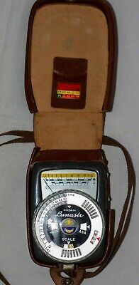 Gossen Lunasix Vintage Light Meter in leather case