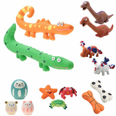 Latex Pet Puppy Cartoon Chew Squeaky Sound Toys Dog Training Chewing Biting New