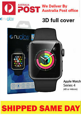 Nuglas 3D Full Cover Tempered Glass Screen Protector For Apple Watch Series 432