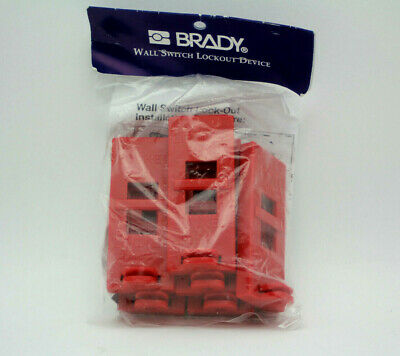 Brady 65696 Wall Switch Lockout Device Pack of 6 New