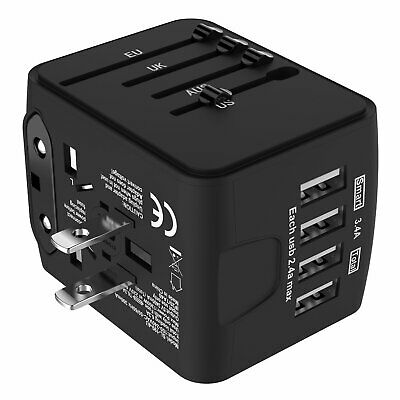 International Universal Travel Adapter USB Charger AC Power Wall Plug US UK AU