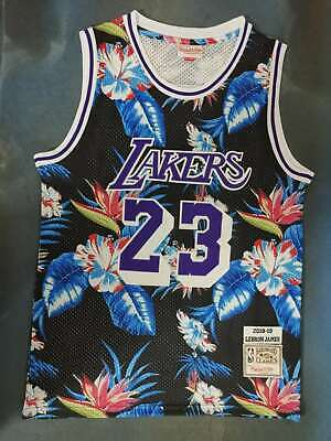 New Los Angeles Lakers #23 LeBron James Basketball flowers jersey Size:S-XXL