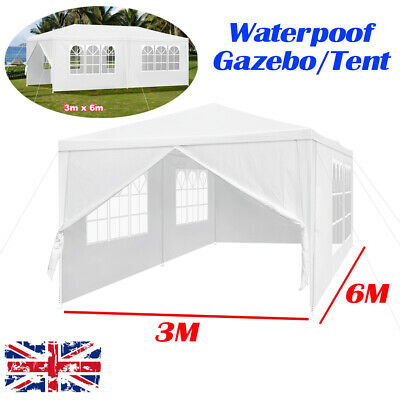 NEW Waterproof Garden Gazebo Party Tent Marquee Awning Canopy Shelter BBQ Picnic