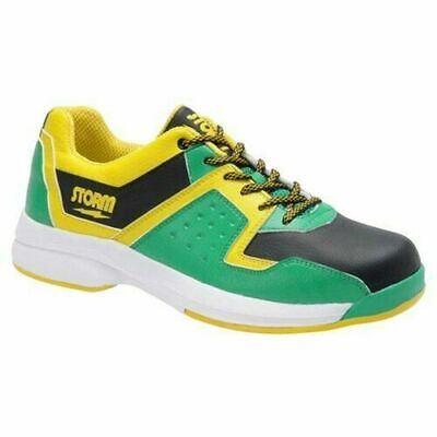 Storm Mens Lightening Left Hand Bowling Shoes, Black/Yellow/Teal - VARIOUS SIZES