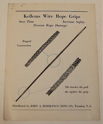 NOS Vintage John A Roebling/'s Sons Roebling Wire Rope for Logging