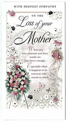 S2 DEEPEST SYMPATHY ON THE LOSS OF YOUR WIFE CARD,WITH SENTIMENTAL KEEPSAKE CARD