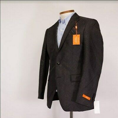 TALLIA Mens Two Button Wool Suit Black Size 40R NWT