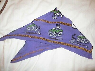 childs bandana scarf hairband purple mickey mouse in jeep & goofy