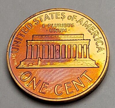 1964 Lincoln Memorial Unc Bu Cent Penny Wow Stunning Uniquely Color Toned