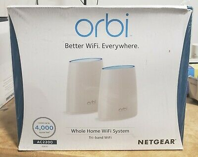 NETGEAR RBK40 ORBI Whole Home Mesh Wi-Fi System (Router and
