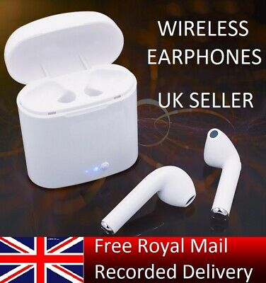 i7S TWS WIRELESS BLUETOOTH 5.0 EARPODS EARPHONES - IPHONE SAMSUNG ANDROID - UK