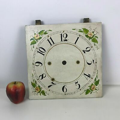 Antique Hand Painted Grand Father Clock Face