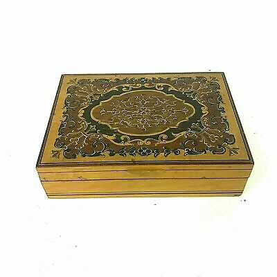 Italian Marquetry Inlaid Valuables Trinket Box