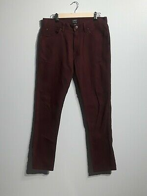 J.Crew Women's Pants The Sutton Size 31 X 32 Maroon Corduroy Straight Leg