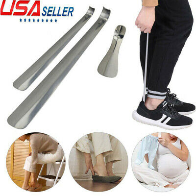 "6""-20"" Stainless Steel Long Handled Metal Shoe Horn Lifter with Hanging Hole"