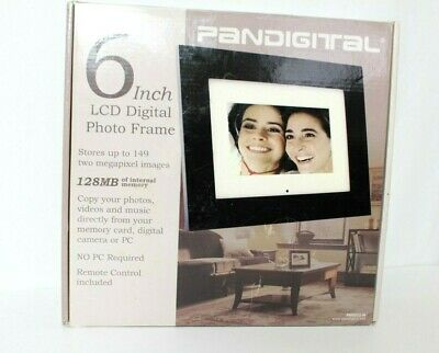 "Pandigital 6"" LCD Digital Photo Frame Picture Frame New in Box"