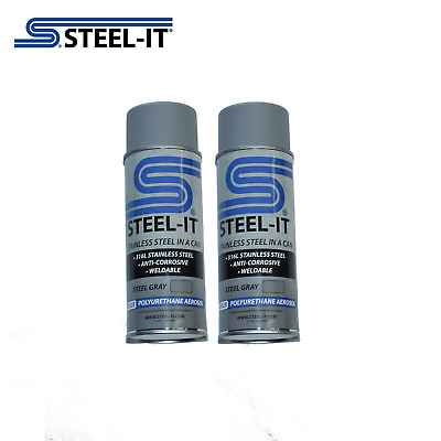 1002B STEEL-IT 2 pack 14oz Gray Stainless Steel Polyurethane Aerosol Cans