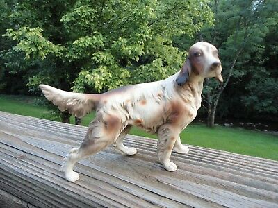 "English Setter Brown & White 5"" Standing Dog Porcelain Figurine decor"