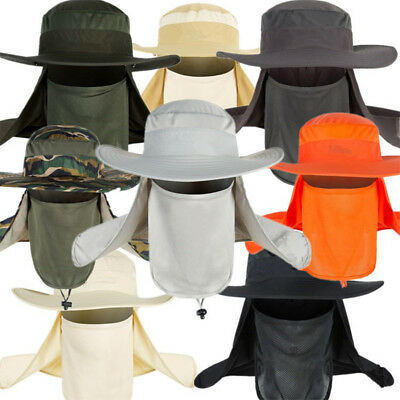 Jungle Tactical Boonie Hat Military Bucket Wide Brim Sun Fishing Ear Neck Cover
