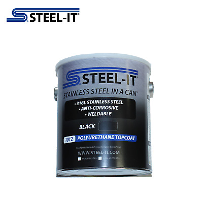 1 Gallon STEEL-IT 1012G Black Stainless Steel Polyurethane Coating