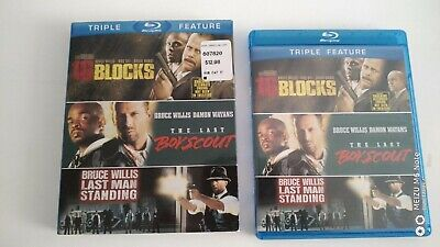 Bruce Willis Action Triple Feature Bluray incomplete one missing