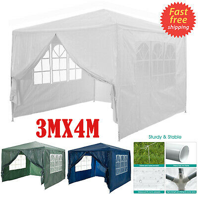 3x4m Garden Gazebo Marquee Party Camping Tent Portable Carport Awning Car Canopy