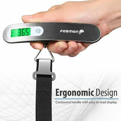 Portable Electronic Travel Luggage Scale 110lb / 50kg LCD Digital Hanging Weight