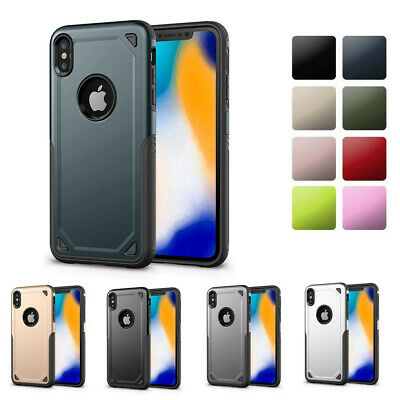 Hybrid Shockproof Armour Heavy Duty Bumper Case Cover for iPhone 7/8 X XS Max XR