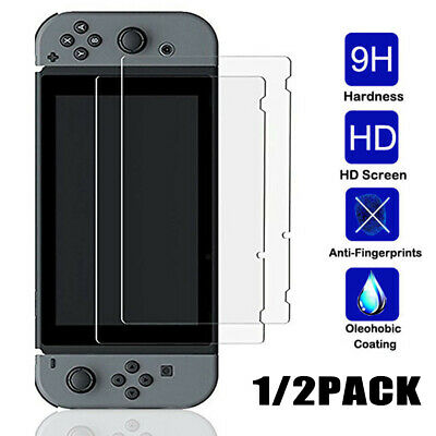 Premium HD Clear Tempered Glass Screen Protector Film Guard For Nintendo Switch