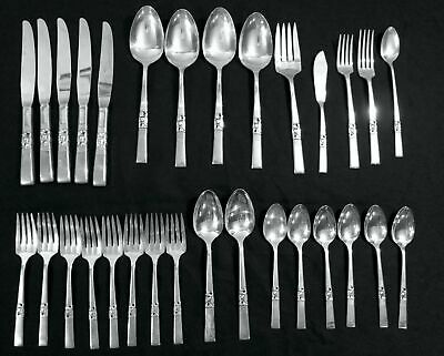 30pc MORNING STAR Community Knives Forks Spoons Teaspoons Serving