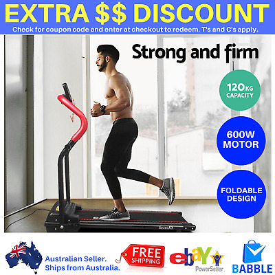 Red Everfit Electric Treadmill Fitness Exercise Home Gym Machine Equipment New