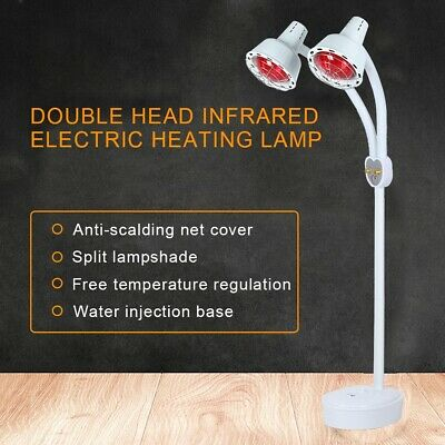Double Head Infrared Therapy Light Bulb Heat Pain Lamp Relief Heal Deep Health