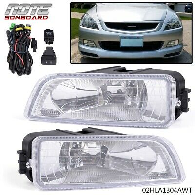 For 2003-2007 Honda Accord TL 4DR Sedan Clear Bumper Driving Fog Lights LH RH
