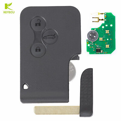3B Smart Card Remote Key Fob 433 MHz W/ Chip ID46 for RENAULT Megane Scenic Clio