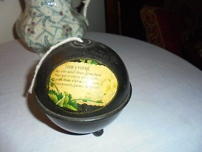 Antique/Vintage Mauchline Ware String Holder -Collectable Treen-For A Friend