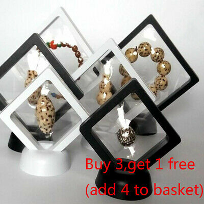 Coin Medal Jewellery Display Presentation Box Floating 3D Case Stand Holder