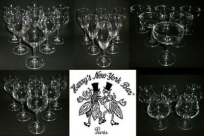 Rare Antique Lot 29 x BACCARAT for *Harry's New York Bar Paris* Crystal Goblets