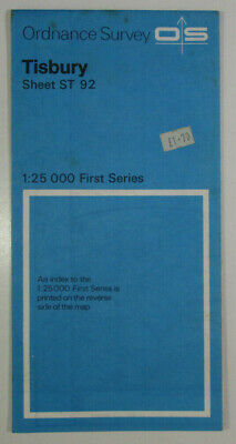 1958 Old Vintage OS Ordnance Survey 1:25000 First Series Map ST 92 Tisbury