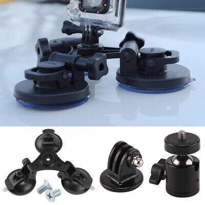 Triple Car Glass Window Suction Cup Windscreen Dash Mount for GoPro 3 4 5 NEW