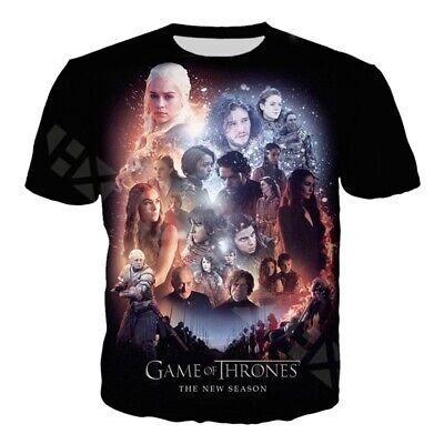 Game of Thrones Funny 3D Print Casual T-Shirt Newest Women Men Short Sleeve Tops