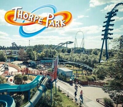 2 x Thorpe Park tickets - Sunday 30th JUNE 2019 - for only £30.