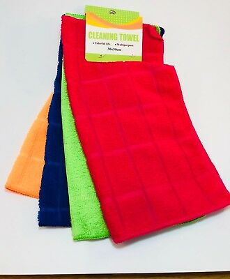 Microfibre CLEANING TOWEL CLOTHS CAR DETAILING SOFT DUSTER X 4